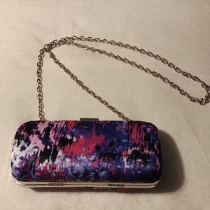 Hard case clutch purse